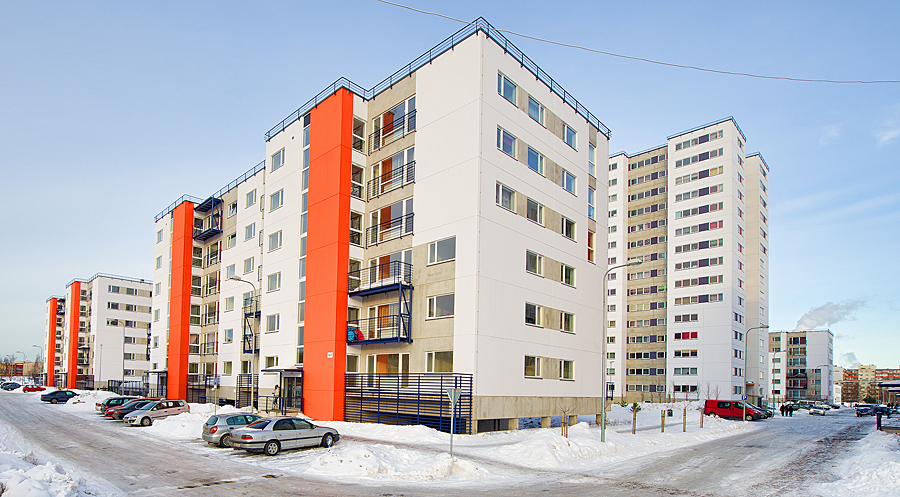 Apartment Houses construction of apartment houses, a parking house and